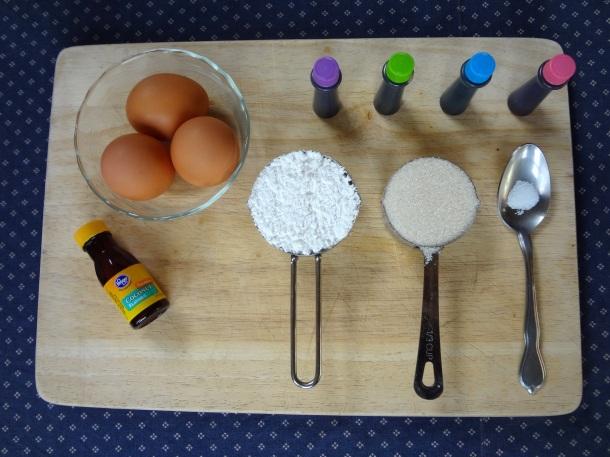 ingredients for easter meringues